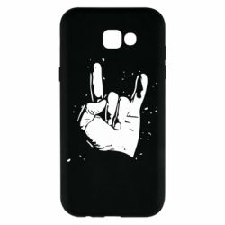 Чехол для Samsung A7 2017 HEAVY METAL ROCK