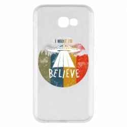 Чехол для Samsung A7 2017 I want to believe text