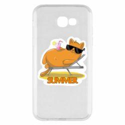 Чохол для Samsung A7 2017 Котик на пляжі
