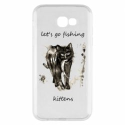 Чехол для Samsung A7 2017 Let's go fishing  kittens