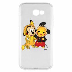 Чехол для Samsung A7 2017 Mickey and Pikachu