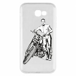 Чехол для Samsung A7 2017 Mickey Rourke and the motorcycle