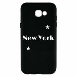 Чехол для Samsung A7 2017 New York and stars