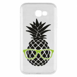 Чехол для Samsung A7 2017 Pineapple with glasses