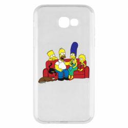 Чехол для Samsung A7 2017 Simpsons At Home