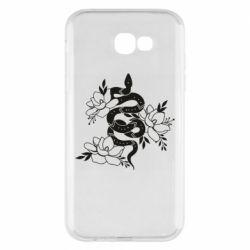 Чохол для Samsung A7 2017 Snake with flowers