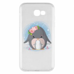 Чехол для Samsung A7 2017 Two cute penguins