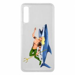 Чехол для Samsung A7 2018 Aquaman with a shark