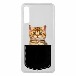 Чехол для Samsung A7 2018 Cat in your pocket