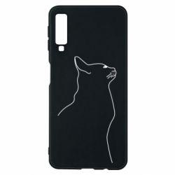 Чохол для Samsung A7 2018 Cat line