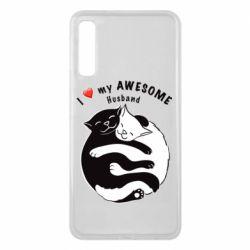 Чехол для Samsung A7 2018 Cats and love