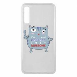 Чехол для Samsung A7 2018 Cute cat and text