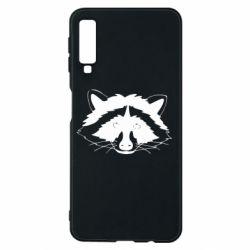 Чохол для Samsung A7 2018 Cute raccoon face