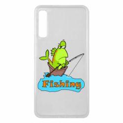 Чехол для Samsung A7 2018 Fish Fishing