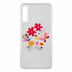 Чехол для Samsung A7 2018 Flowers and Butterflies