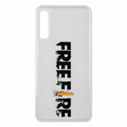 Чехол для Samsung A7 2018 Free Fire spray