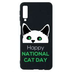 Чехол для Samsung A7 2018 Happy National Cat Day