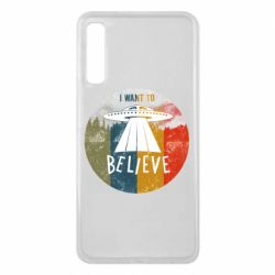 Чехол для Samsung A7 2018 I want to believe text