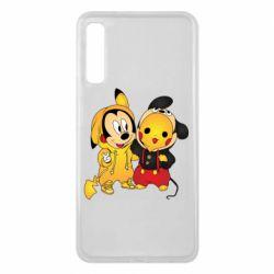 Чехол для Samsung A7 2018 Mickey and Pikachu