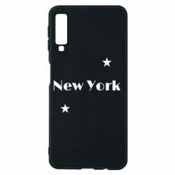 Чехол для Samsung A7 2018 New York and stars