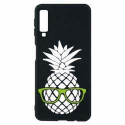 Чехол для Samsung A7 2018 Pineapple with glasses