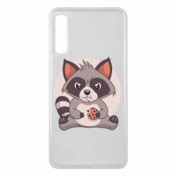 Чохол для Samsung A7 2018 Raccoon with cookies
