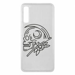 Чохол для Samsung A7 2018 Skull with scythe
