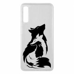 Чехол для Samsung A7 2018 Wolf And Fox
