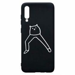 Чохол для Samsung A70 Cat in pants
