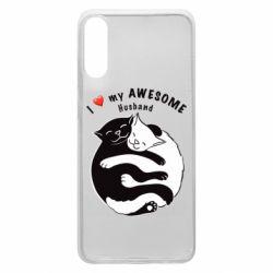 Чехол для Samsung A70 Cats and love