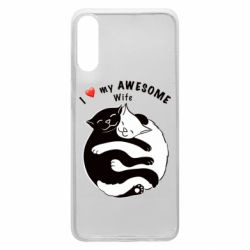 Чехол для Samsung A70 Cats with a smile