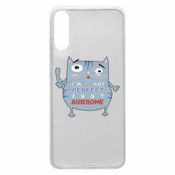 Чехол для Samsung A70 Cute cat and text