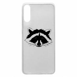 Чохол для Samsung A70 Cute raccoon face