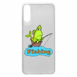 Чехол для Samsung A70 Fish Fishing