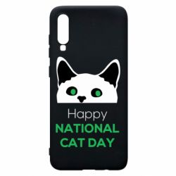 Чехол для Samsung A70 Happy National Cat Day