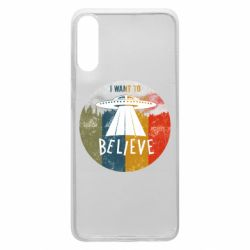 Чехол для Samsung A70 I want to believe text