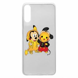 Чехол для Samsung A70 Mickey and Pikachu