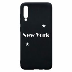 Чехол для Samsung A70 New York and stars