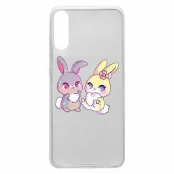 Чохол для Samsung A70 Rabbits In Love