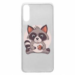 Чохол для Samsung A70 Raccoon with cookies