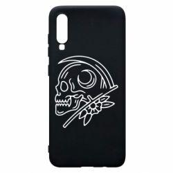 Чохол для Samsung A70 Skull with scythe