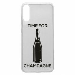 Чохол для Samsung A70 Time for champagne
