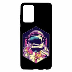 Чохол для Samsung A72 5G Astronaut with donut and pizza