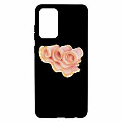 Чехол для Samsung A72 5G Bacon with flowers on the background