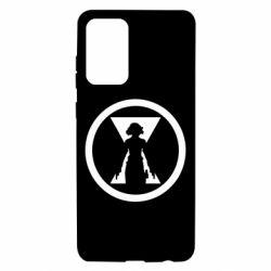 Чохол для Samsung A72 5G Black Widow logo