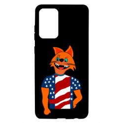Чехол для Samsung A72 5G Cat in American Flag T-shirt