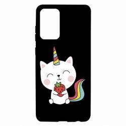 Чохол для Samsung A72 5G Cat unicorn and strawberries