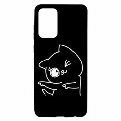 Чехол для Samsung A72 5G Cheerful kitten