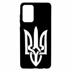 Чехол для Samsung A72 5G Coat of arms of Ukraine torn inside