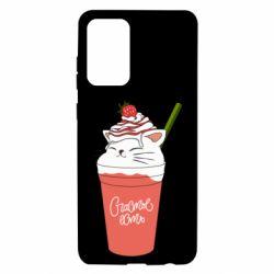 Чохол для Samsung A72 5G Cocktail cat and strawberry